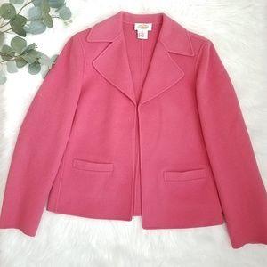 TALBOTS Soft Wool Blazer Jacket Pink 4